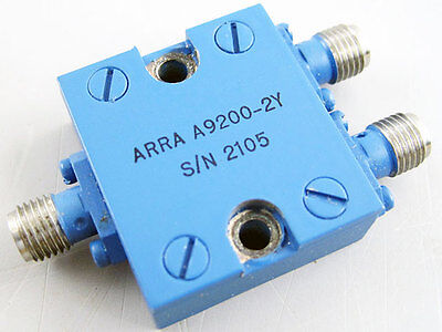 Arra A9200-2y Sma 2 Way Narrow Band Power Divider Combiner