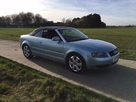 Audi A4 Soft Top 2.4 V6 low mileage