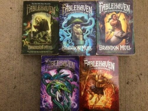 Fablehaven Complete Set 1-5 by Brandon Mull 1 2 3 4 5 paperback lot