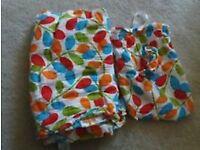 JoJo Maman Bebe XL leaf print muslin nursing b/feeding scarf