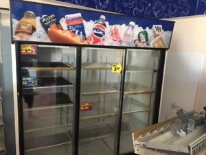 Commercial Display Fridge PEPSI  73 inches W by 28.5 inches D