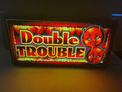 """""""Double Trouble"""" Lighted Slot Machine Glass Box"""