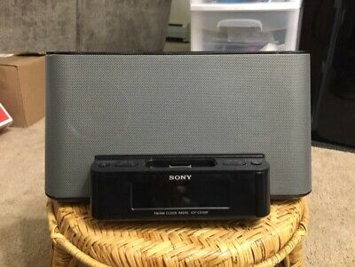 SONY IPHONE/IPOD CLOCK RADIO SPEAKER DOCK ICF-CS10IP ALARM CLOCK