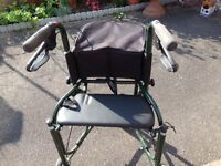 Uniscan Triumph Mobility Walker - with seat. Folds down, dark green, good condition, user manual
