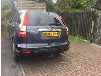HONDA CRV 2008 DIESEL LEATHER HEATED SEATS ALLOY SPARES OR REPAIRS ENGINE GEARBOX FINE V5C KEYS