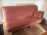 Futon - Double bed sized pine futon