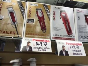 Wahl senior cordless $189,andis tout liner $79,oster classic$169