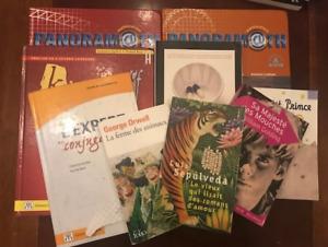 Manuels scolaires secondaire, romans, livres :  Sec 1- 2- 3- 4