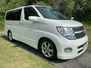 2008 Nissan Elgrand E51 Highway Star White 5 Speed Automatic Wagon Warana Maroochydore Area Preview