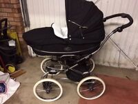 Bebecar EL Stylo travel system pram , carrycot, and pushchair - Black Sparkle