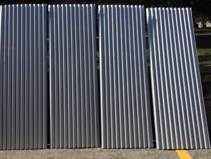 Corrugated metal roofing siding sheets