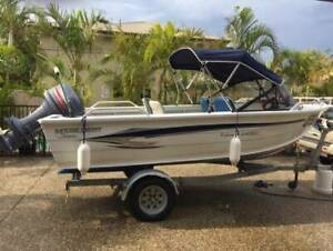 ALUMINIUM BOAT AND TRAILER STESSCO 440 FISHERMAN