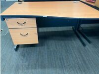Office desk with built in drawers (Used) 4 available