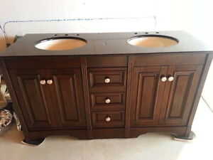 "BRAND NEW 60"" DECORATIVE TWO  SINK BATHROOM VANITY"