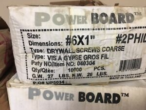 box of 1' drywall screws - 10,000 pcs