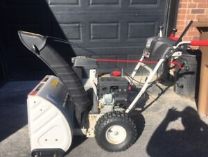 Snowblower white outdoors 24 inch