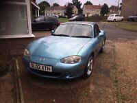 2002 Mazda MX5 1.8i 16v Sport 6 Speed Manual 146bhp S-VT Blue Metallic 86k Full leather