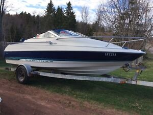 1995 Bayliner Capri 17.0 Foot with small Cuddy