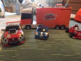 Rory the racing car truck and 3 car set