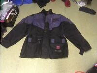 Frank Thomas Aqua waterproof textile motorbike jacket and gloves
