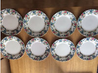 **ROYAL CAULDON** VICTORIA - EIGHT SIDES PLATES GOOD CONDITION