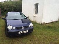 VOLKSWAGEN POLO 1.2 5 DOOR BLUE