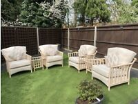 Holloways Austen conservatory furniture - armchairs, cushions, side and coffee tables