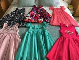 6 immaculate occasion dresses age 9-10