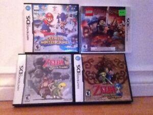 4 jeux DS/3DS Zelda Mario