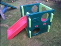 Little tikes green and red slide