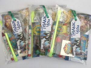 Fortnite party bags,pre filled sweets,tattoo,colouring,boys girls