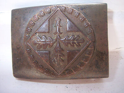 ORGINAL GERMAN BELT BUCKLE NATIONAL CONFEDERATION OFEVANGELIST YOUNG MENSLEAUGE