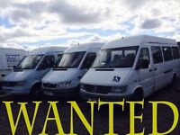 WE BUY ALL UNWANTED MERCEDES SPRINTERS FORD TRANSIT SMILEYS AND TOYOTA HI ACE VANS