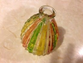 MULTI COLOURED GLASS VASE