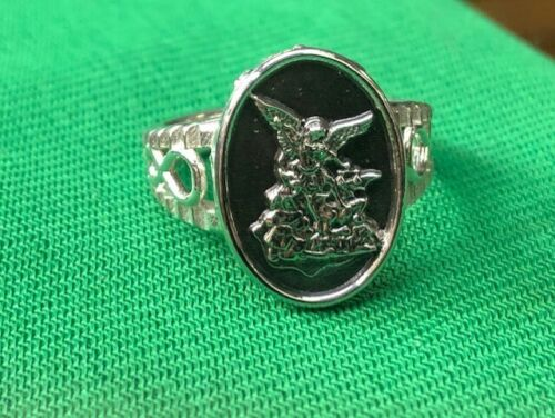 Saint Michael Ladies Ring Size available 5-9 Sterling Silver 925