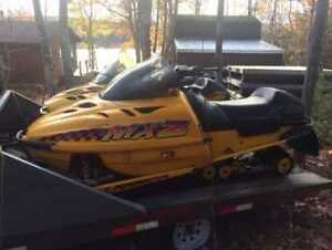 Classic snowmobiles for sale!