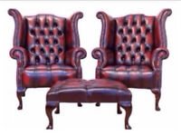 Wanted chesterfields - any condition sofas, wingbacks, scroll, club chairs footstools £££