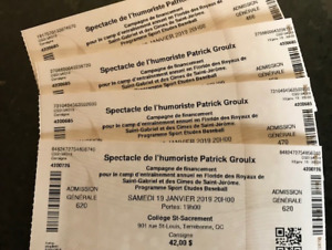 billets spectacle patrick groulx