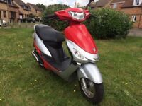 2008 Peugeot Vclic 50cc scooter, 1 owner, low mileage