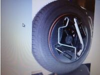 spare wheel for fiat panda 2005 model. set with jack and holder. £30