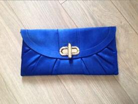 blue hand bag + blue heels