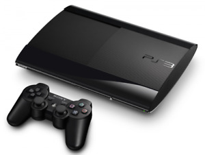 250GB SUPER SLIM PS3 SYSTEM AND GAMES FOR SALE