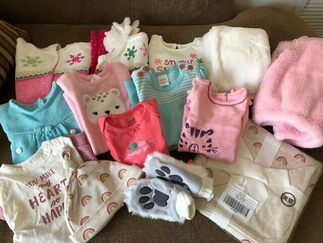 Gymboree Baby Girl Clothing Lot - Nwt - Different Sizes -0-3 To 2-3 - 15 Pieces