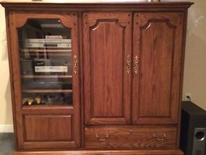 Thomasville Entertainment center – solid oak