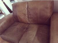 Quality 3 & 2 seater leather Hide sofas
