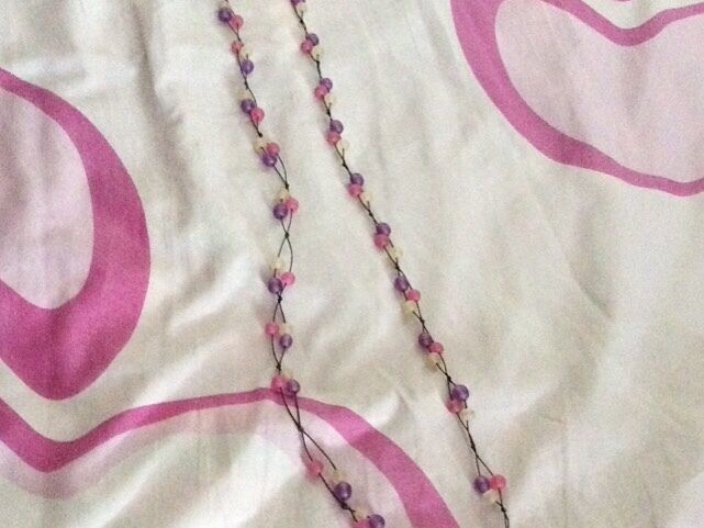 Brand New Long Purple And Pink Necklace