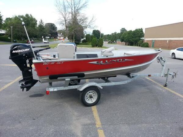 Used 2010 Lund Boat Co WC-14 DLX w 20hp 4-Stroke Mercury Outboard