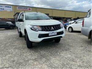 2017 Mitsubishi Triton MQ MY17 GLX White 5 Speed Manual Cab Chassis Campbellfield Hume Area Preview