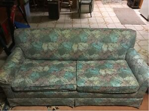 VINTAGE - Reupholstered Sofa with Pull-Out Couch + TV