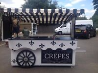 Victorian Style Crepe Cart